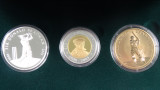 2001 Gold, Silver, Aluminium/Bronze Sir Donald Bradman 3 Coin Set