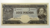 1954 Five Pounds Coombs / Wilson Banknote in Very Fine Condition