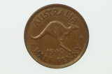 1940 Half Penny George VI in Almost Uncirculated Condition Reverse