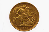 1893 Sydney Mint Gold Half Sovereign in Very Fine Condition
