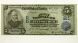 1918 Five Dollars First National Bank Pittsburgh Banknote