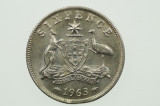 1963 Sixpence Variety Error Clipped Edge in Uncirculated Condition Reverse