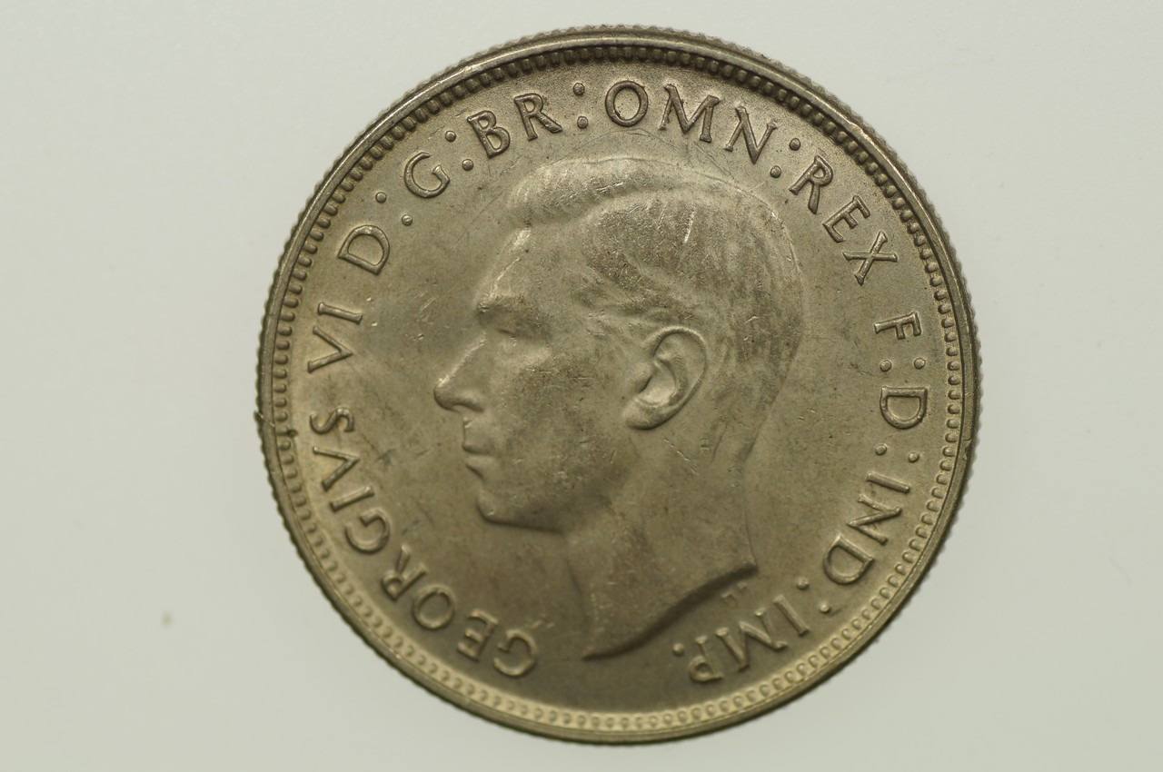 1947 Florin Metal Peel Variety in Extremely Fine Condition Obverse