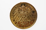 German States Prussia 1911 A Gold 20 Mark Coin in aUnc Condition Reverse