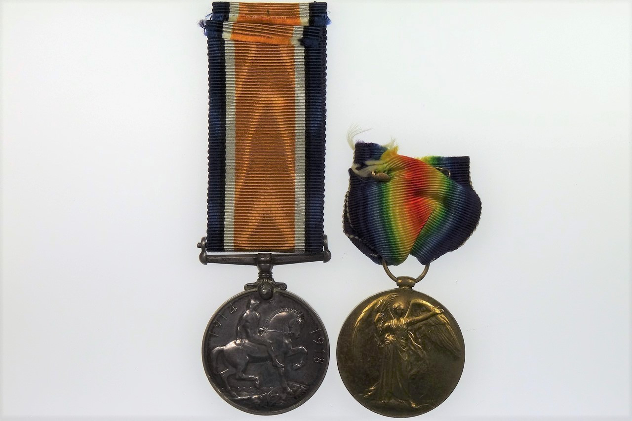 British War Medal 1914 - 1918 and Victory Medal 1914 - 1919