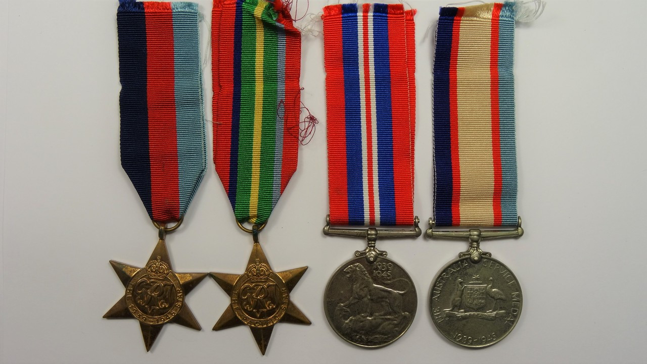1939-45 Star, Pacific Star, War Medal and Australian Service Medal