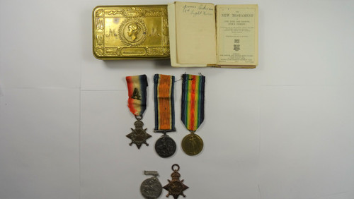 Trio to the 13th Light Horse Regiment World War I Medals and World War I Pair