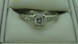 18ct White Gold 17 Diamond Channel Set Engagement Ring