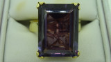 14ct Yellow Gold 13.67ct Purple Topaz Ring 9.6 Grams