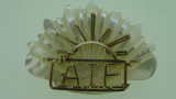9ct Yellow Gold and Mother of Pearl Australia Rising Sun AIF Badge