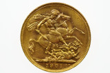1901 Perth Mint Gold Full Sovereign in aUnc Condition