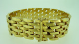 18ct Yellow Gold Bracelet 18 cm Watch Link 52.4 Grams