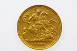 1897 Sydney Mint Gold Half Sovereign in Almost EF Condition