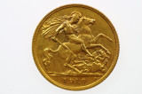 1910 Sydney Mint Gold Half Sovereign in Very Fine Condition