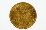France 1862 B 20 Francs Napoleon Gold Coin in Very Fine Condition