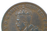 1925 Half Penny Variety Die Crack George V in Very Fine Condition