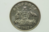 1955 Sixpence Elizabeth II in Uncirculated Condition