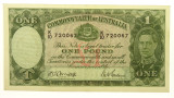 1942 One Pound Armitage / McFarlane Banknote in Almost EF Condition