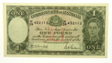 1942 One Pound Armitage / McFarlane Banknote in Unc Condition