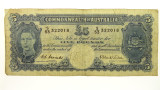 1952 Five Pounds Coombs / Wilson Banknote in Very Good Condition
