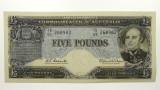 1960 Five Pounds Coombs / Wilson Banknote in Uncirculated Condition