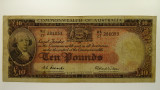 1954 Ten Pounds Coombs / Wilson Banknote in Very Good Condition