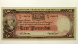 1960 Ten Pounds Coombs / Wilson First Prefix WA/28 Banknote