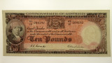 1954 Ten Pounds Coombs / Wilson Banknote in About Unc Condition