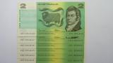 1985 Two Dollars Johnston / Fraser Consecutive Run of Six Banknotes