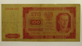Poland 1948 100 Zlotych Banknote in Very Good Condition