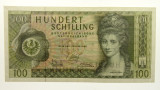 Austria 1969 100 Schilling Banknote in Very Fine Condition