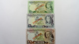 Ireland 1978 1, 5 and 10 Pounds Matching Serial SPECIMEN Banknote Set