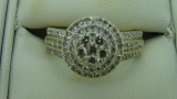 9ct Yellow Gold 99 Diamond Daisy Cluster Engagement Ring