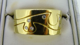 18ct Yellow Gold Solid 15 Diamond Band 14.9 Grams