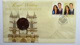 2011 50 Cents Royal Wedding William & Kate Philatelic Numismatic Cover