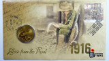 2016 One Dollar Letters From The Front Philatelic Numismatic Cover