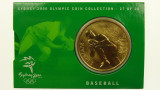 Sydney 2000 Olympic Games Baseball Five Dollars Uncirculated Coin