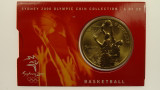 Sydney 2000 Olympic Games Basketball Five Dollars Uncirculated Coin