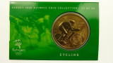 Sydney 2000 Olympic Games Cycling Five Dollars Uncirculated Coin