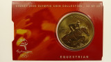 Sydney 2000 Olympic Games Equestrian Five Dollars Uncirculated Coin