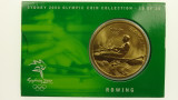 Sydney 2000 Olympic Games Rowing Five Dollars Uncirculated Coin