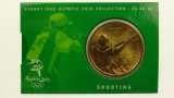 Sydney 2000 Olympic Games Shooting Five Dollars Uncirculated Coin