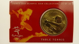 Sydney 2000 Olympic Games Table Tennis Five Dollars Uncirculated Coin