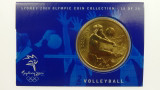Sydney 2000 Olympic Games Volleyball Five Dollars Uncirculated Coin