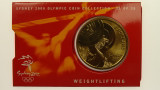 Sydney 2000 Olympic Games Weightlifting Five Dollars Uncirculated Coin