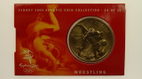 Sydney 2000 Olympic Games Wrestling Five Dollars Uncirculated Coin