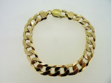 9ct Yellow Gold Bracelet 19.7 cm Curb Link 25.8 Grams