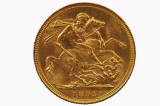1895 Sydney Mint Gold Full Sovereign Variety Multiple Die Cracks in EF Cond