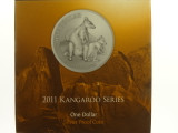 2011 Kangaroo Series Allied Rock Wallaby 1oz Silver Proof One Dollar Coin
