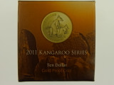 2011 Kangaroo Series Allied Rock Wallaby 1/10oz Gold Proof Ten Dollars Coin